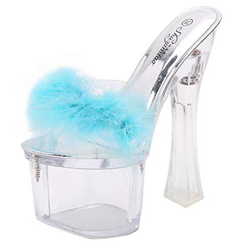 Azul De Destalonada Jyshoes Sintético Mujer Material 0Hw67q