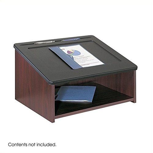 Safco Products 8916MH Table Top Lectern, (Optional Base 8917MH sold separately), Mahogany