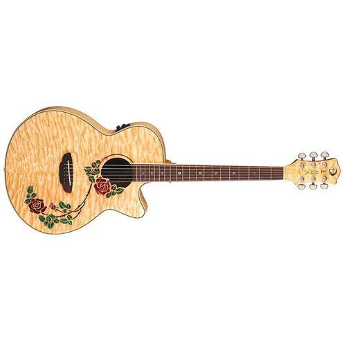 - Luna Guitars Flora Rose Acoustic-Electric Guitar Gloss Natural
