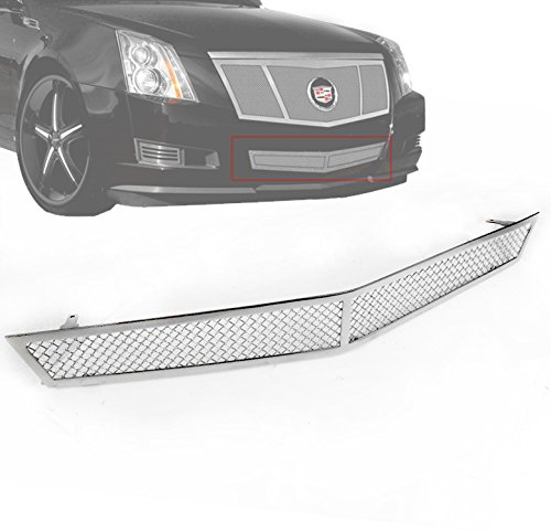 ZMAUTOPARTS Cadillac Cts Front Bumper Lower Stainless Steel Mesh Grille Insert Chrome
