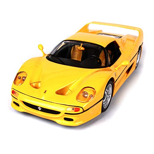 HBWJSH Juguete de Modelo de automóvil, Modelo de automóvil, Modelo de automóvil de aleación 1:18, simulación de Super Modelo de automóvil, tamaño: 26X10X6CM (Color : Yellow) por HBWJSH