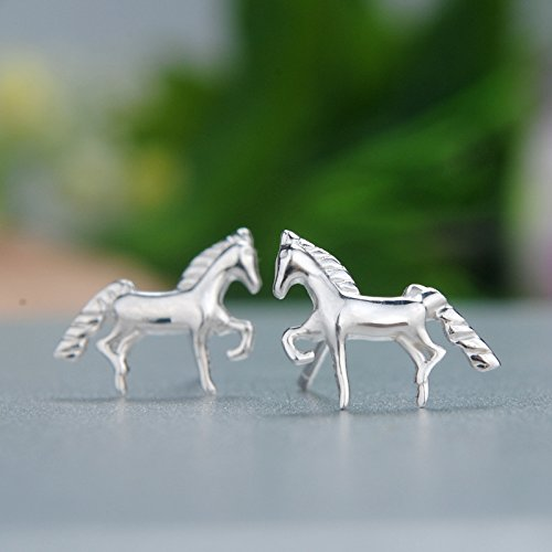 findout ladies sterling silver cute pony horse and simple bird two pairs earrings . for women girls children(f1482) vcah5