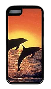 Distinct Waterproof Spectacular Dolphins Dance1 Design Your Own for iphone 5/5S Case