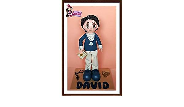 335a934fa3f Fofucha mi primera comunión niño marinero personalizado 35 cms.  Amazon.es   Handmade
