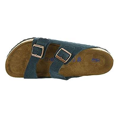 Birkenstock Arizona Soft Footbed Dark Navy Suede Sandals 36 (US Women's 5-5.5)