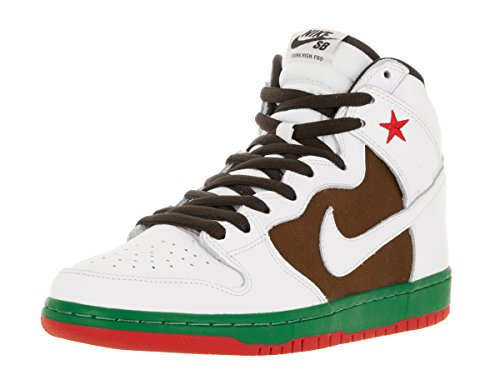 NIKE Men's Dunk High Premium SB Pecan/White Skate Shoe 11.5 Men US