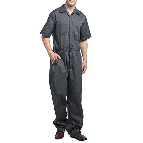 TOPTIE Men's Basic Short-Sleeve Work Cov...