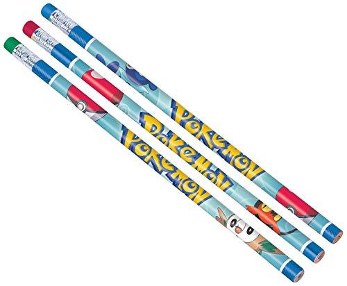 Amscan 398751 Pokemon Pencils, Party Favor, Multicolor, One