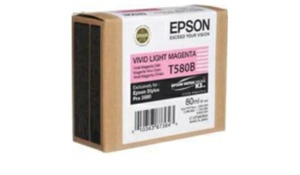 Epson C13T580B00 STYLUS PRO 3880 - MAGENTA claro vivo: Amazon.es ...