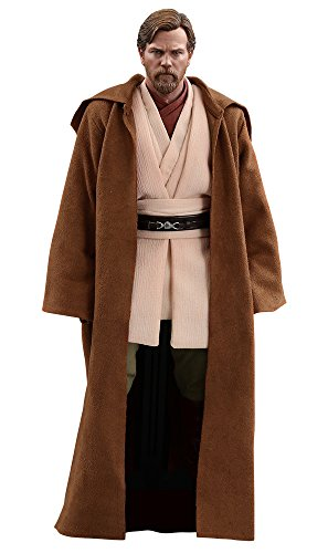 Wan Kenobi 12 Inch Figure - Hot Toys Star Wars: Episode III: Revenge of The Sith OBI-Wan Kenobi 1/6 Scale Movie Collectible Figure