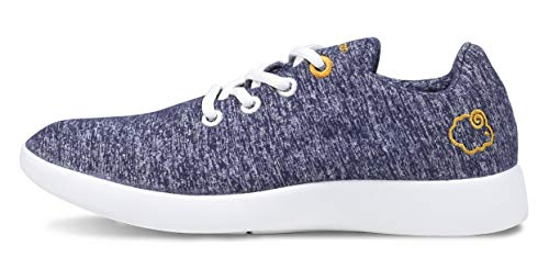 - LeMouton Classic Unisex Wool Shoes | Men Women Fashion Sneakers | Comfortable Lightweight Casual Shoe (US Women 9 / US Men 8, Navy)