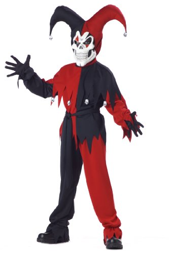 Scary Clown Costumes For Kids - California Costumes Toys Evil Jester,
