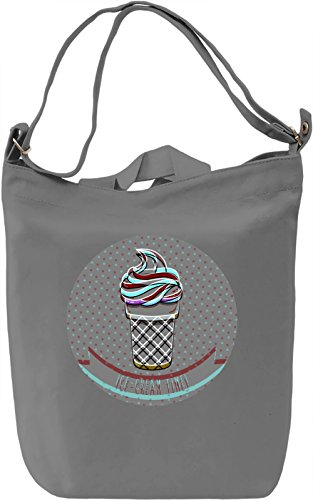Ice-cream Time Borsa Giornaliera Canvas Canvas Day Bag| 100% Premium Cotton Canvas| DTG Printing|