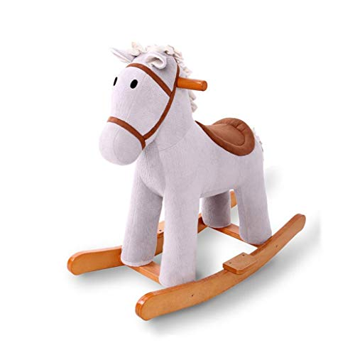 Wooden Rocking Horse for Kids New Rocking Chair Toy Stuffed Ride Animal Toddler Rocker 1-3 Years Traditional Vintage Kids Soft Toys (Rocking Traditional Wooden Horses)