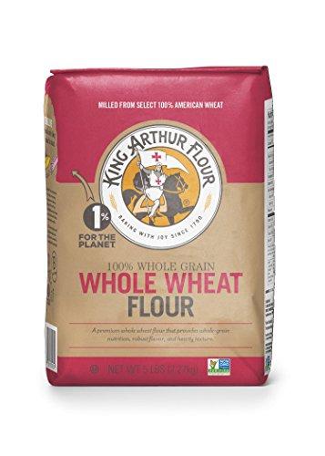King Arthur Flour Premium 100% Whole Wheat Flour, 5 Pound -