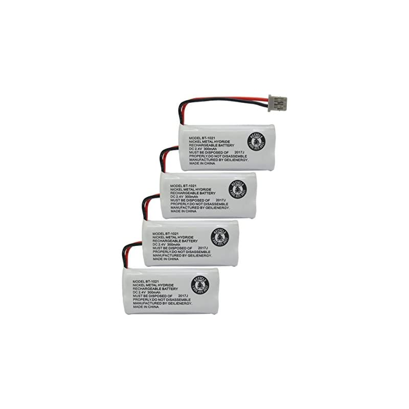 GEILIENERGY (Pack of 4) 2.4V Rechargeabl