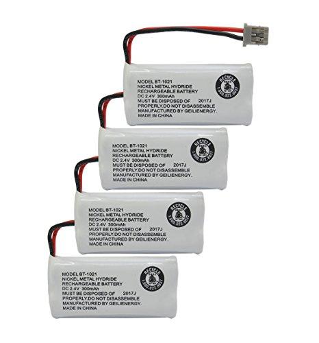 - GEILIENERGY (Pack of 4) 2.4V Rechargeable Batteries Compatible with Uniden BT-1025 BT1008 BT-1008 BT1016 BT-1016 BT1021 BT-1021 WITH43-269 WX12077 Sanyo CAS-D6325 CASD6325 Cordless Phone