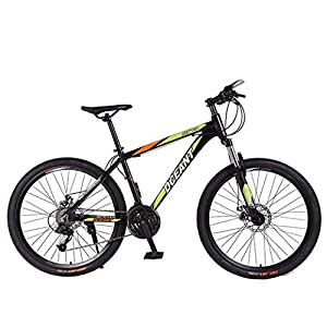 41v3Im4BNBL. SS300 FREIHE Biciclette Pieghevoli da Mountain Bike, Forcella a Sospensione a Doppio Freno a 21 velocità, Antiscivolo, Bici da…