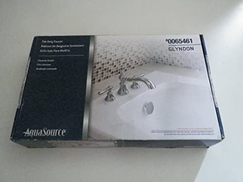 AquaSource Glyndon Polished Chrome 2-Handle Adjustable Deck Mount Tub Faucet Item 65461 Model 461-5301 UPC 6953123900884