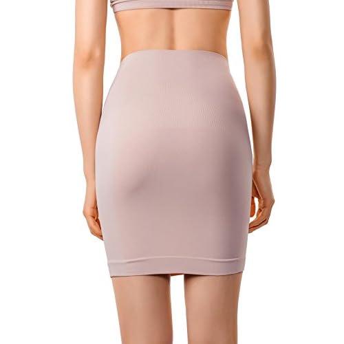 98b5b78f5f MD Women s Shapewear High Waisted Nylon Firm Tummy Control Half Slip Body  Shaper