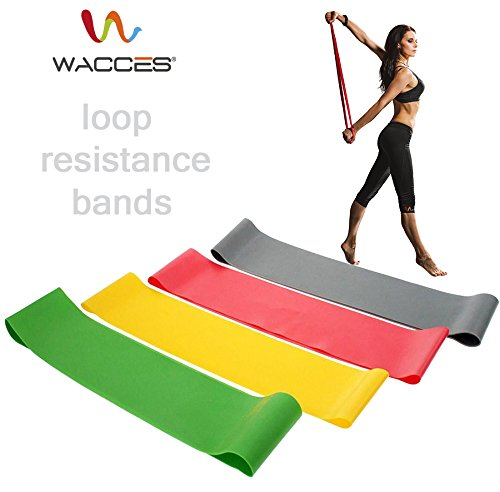 Wacces Loop Bands for Exercise (Light, Low, Medium, Heavy)