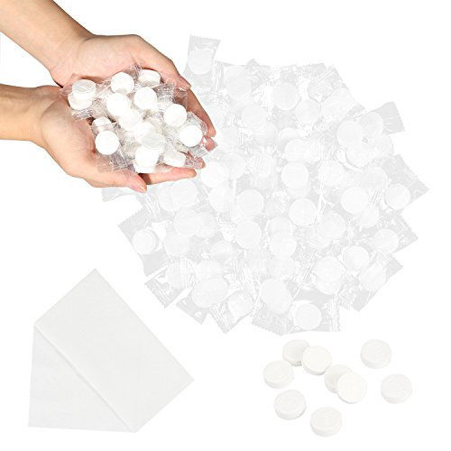 Coobey 150 Pieces Compressed Towels Portable Mini Compressed Coin Tissue for Travel Sports, Beauty Salon or Home Hand Wipes by Coobey