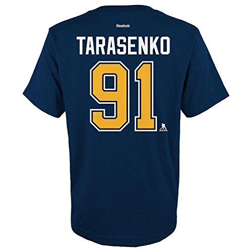 Outerstuff NHL Youth Team Color Player Name and Number Jersey T-Shirt (Vladimir Tarasenko, Medium 10/12)