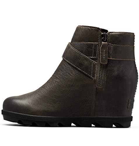 Sorel - Women's Joan of Arctic Wedge II Buckle Ankle Boot, Quarry, 8 M US
