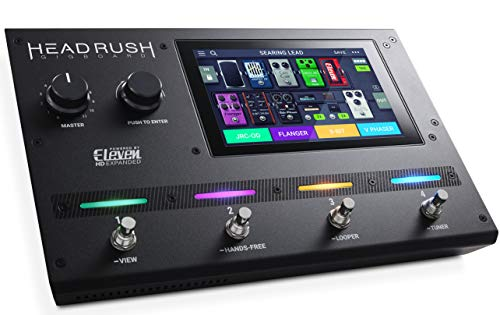 HeadRush Gigboard | Ultra-Portable Guitar FX and Amp Modelling Processor With Eleven HD Expanded DSP Software, 7-Inch Touchscreen, Built in Looper, IR Support and USB Audio ()