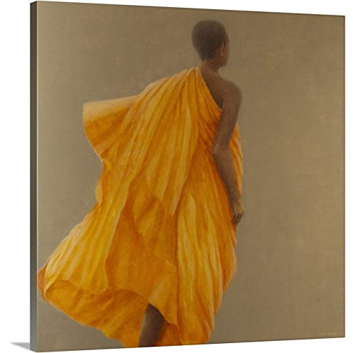 GREATBIGCANVAS Gallery-Wrapped Canvas Entitled Young Monk Sri Lanka, 2010 by Lincoln Seligman 48