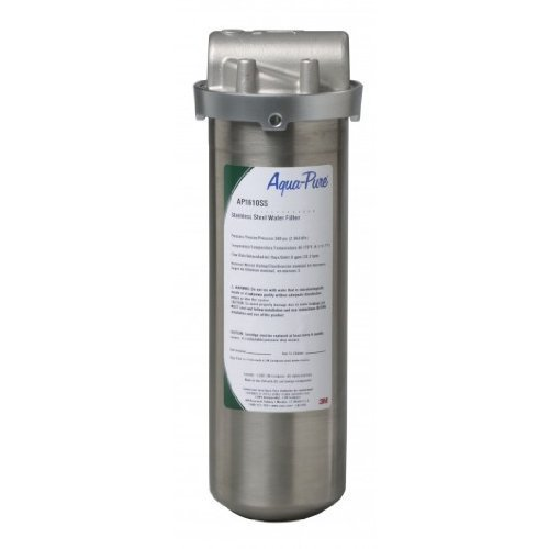 Aqua-Pure AP1610SS Filter with Stainless Steel Housing for Whole House Dirt and Rust Removal System by AquaPure