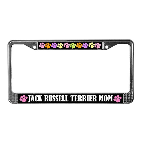 CafePress Jack Russell Mom License Plate Frame Gift Chrome License Plate Frame, License Tag Holder