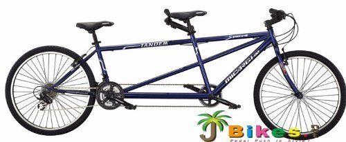 J Bikes by Micargi Sport, Blue - 26' 21-Speed 2-Seater Tandem Bicycle by Micarg