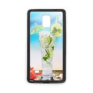 Samsung Galaxy Note 4 Cases Iced Drinks, Kweet, [Black]