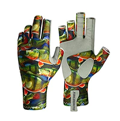 96FCPB-LG/XL Fincognito Peacock Bass Sun Gloves-Lg/XL by Cognito Brands, Inc.