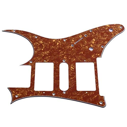 - MOJITO LIVING Guitar Pickguard Plate Electric Guitar Parts HSH PVC Pickguard Scratch Plate for Ibanez RG250 Stringed Instruments Accessories