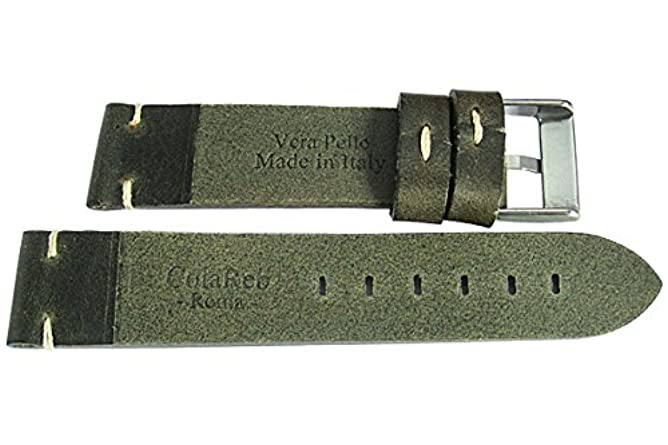 ColaReb 22mm Siena Green Leather Watch Strap