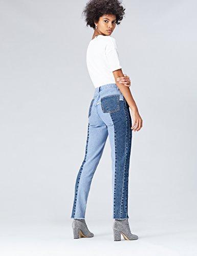 FindJean Droit Blue Bleumid Taille Haute Femme KJc1TlF3