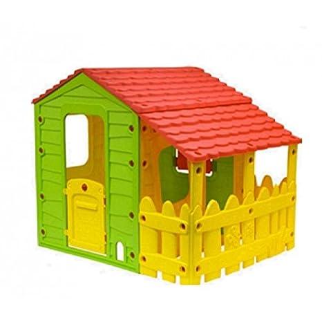 Papillon Casetta Da Giardino Per Bambini Con Portico In Resina