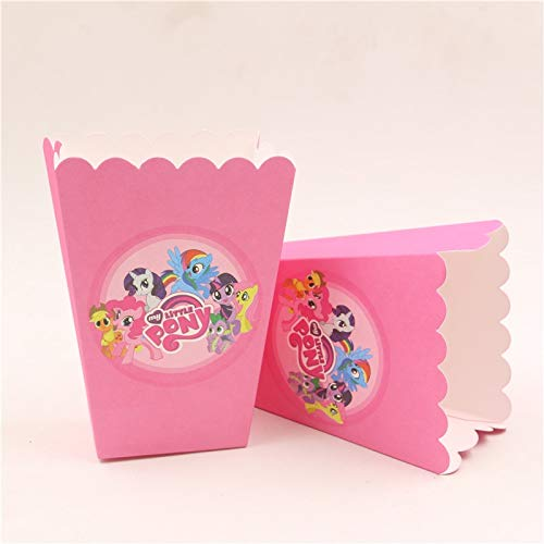 Flamingo Bonut Popcorn Cups 6Pcs/lot Paper popcorn candy favor box/cup my little pony theme children girls birthday party decorations