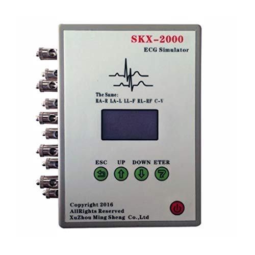 12-Lead ECG Waveform Signal Simulator OLED Display with Normal and Arrhythmia Calibration Square Wave Sinusoidal Respiratory Waveform ()