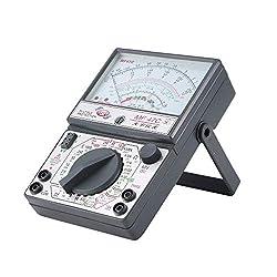 MF-47C Analog Multimeter DC/AC Voltage Current Meter Infrared Detection Handheld hFE Tester Multitester Buzzer Battery Test(Silver)