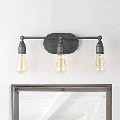 LNC 2-Light Vanity Lights Silver Wall Sconces Bathroom Wall Lighting