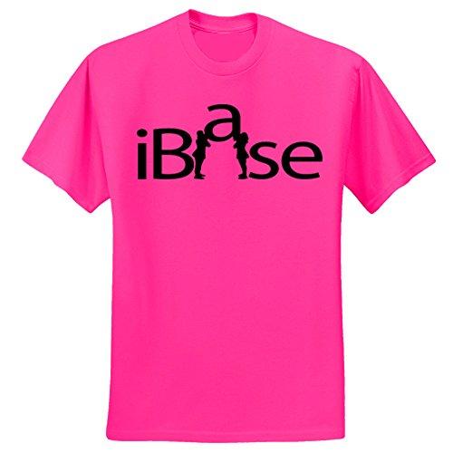 Youth T-shirt Practice Black (Hot Pink iBase T-Shirt-Black Print (Youth Medium))