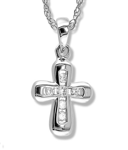 Petite Diamond Cross Pendant i