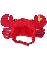 STOBOK Pet Dog Crab Hat Red Crab Hat Dog Halloween Hat Crab Costume Hat Novelty Funny Pet Hat Halloween Headwear Cat Puppy Dog Halloween Costume Accessory