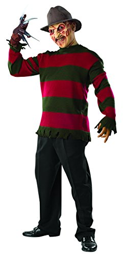 Rubie's Men's Nightmare On Elm St Deluxe Freddy Sweater with Mask, Multicolor, Standard ()