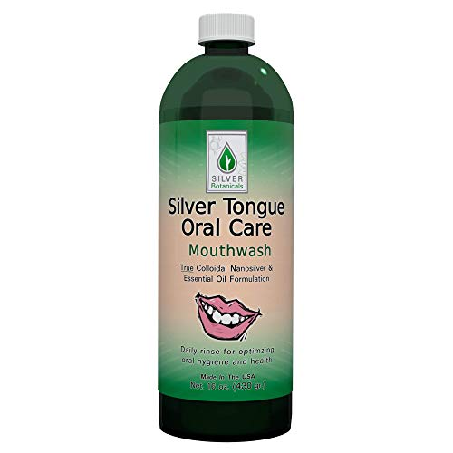 Silver Tongue Oral Care - All Natural Colloidal Silver Mouthwash, 16 oz.
