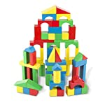 Melissa & Doug Wooden Building Blocks Set – Blocks in 4 Colors and 9 Shapes 100