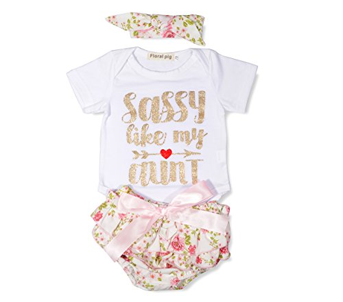 Baby Romper Headband Skirt 3Pcs Romper Clothes With